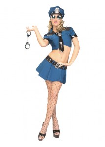 Hot Police Officer Lady Costume Set