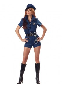 Hot Mini Skirt Police Lady Sexy Costume