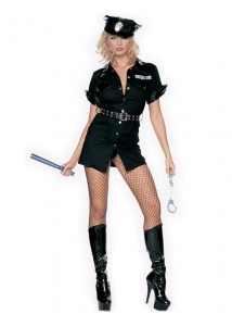 Sexy Police Girl Costume Set