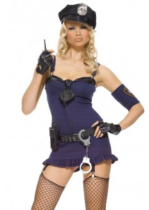 Sexy Purple Hottie Police Costume