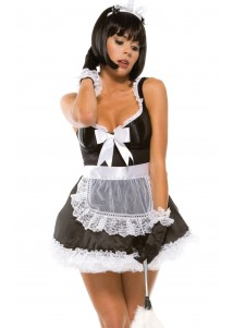 Tempting French Maid Skirt Costume
