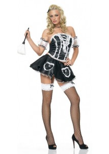 Hot Strapless Maid Costume