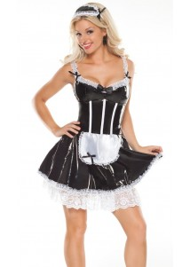 Sexy Strapless Maid Skirt Costume